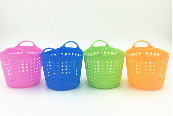 Colorful Plastic Table Organizer Storage Baskets Cosmetic Multi-purpose Mini Basket Storage