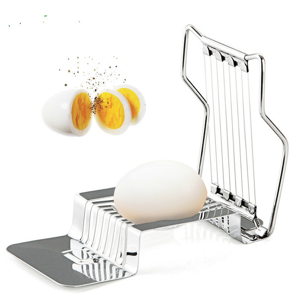 Stainless Steel Boiled Egg Slicer Cutter Tomato Mushroom Boiled Egg Ham Kiwi Multi Functional Cutter Kitchen Egg Tool
