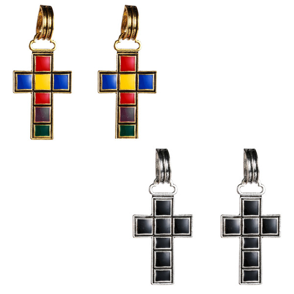 New Arrival Vintage Cross Earring Women Retro Enamel Luxury Stud Earring Gift for Love Girlfriend Fashion Jewelry Accessories
