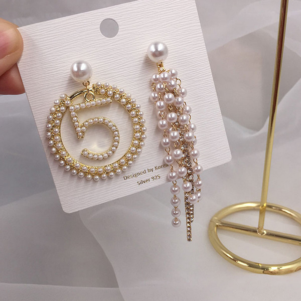 New Arrival Pearl NO5 Luxury Earring Long Tassel Brand Earring Gift for Love Girlfriend Famous Brand Jewelry Accessories high quality
