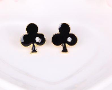 Personalized poker earrings