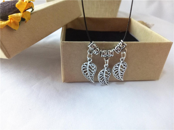 cecmic vintage silver leaf custom pendant necklace for her jewelry cheap buy direct from china supplier