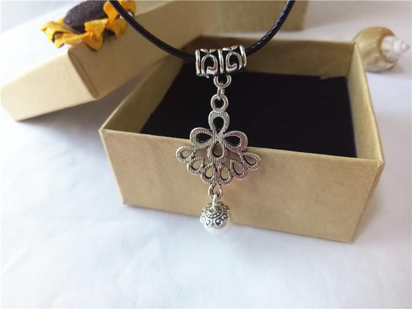 cecmic tibetan hot sale cream ceramic beads jewelry vintage silver Chinese classic pendant necklace for mother gift