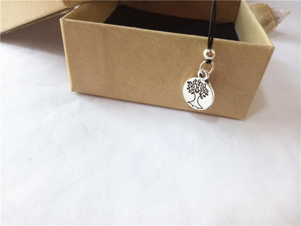 cecmic vintage silver tree of life pendant necklaces with charm meaning gift for friends men women