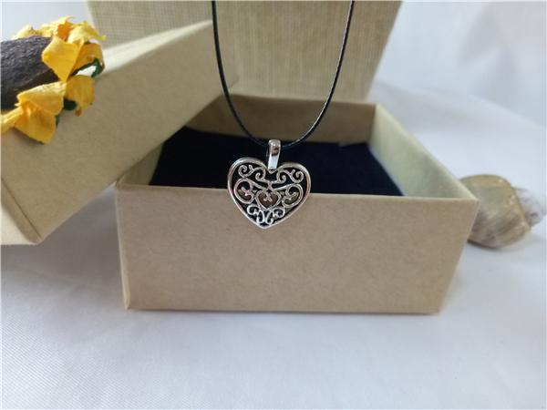 cecmic tibetan vintage silver heart shaped pendant necklace cool customizable pendants pcs for mom women her gift