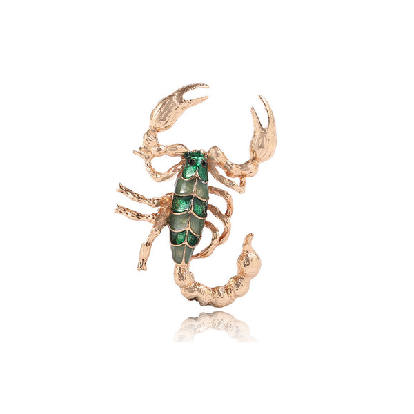 Retro Vintage Animal Scorpion Brooch Women Luxury Suit Lapel Pin for Gift Party Jewelry Accessories Free Shipping