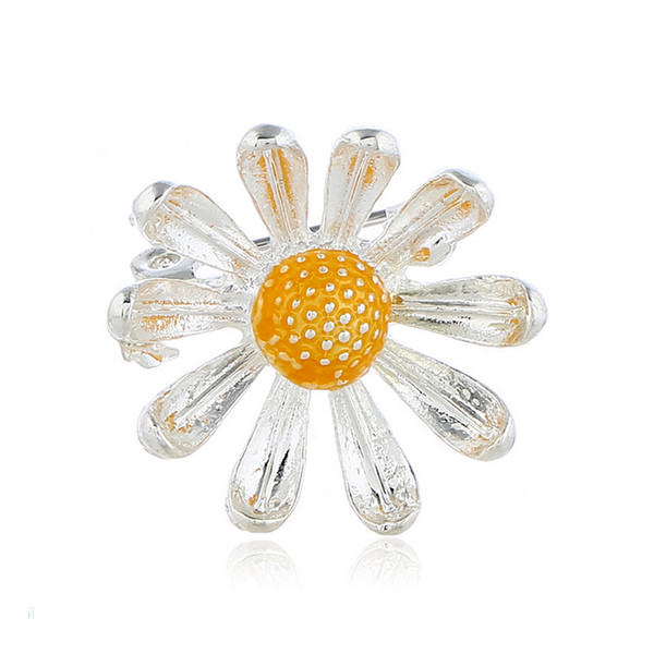Women Girls Cute Daisy Brooch Simple Style Flower Brooch Suit Lapel Pin Gift for Love Girlfriend Epacket Shipping