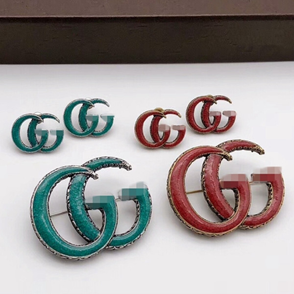 New Arrival Letters Vintage Luxury Brooch Women Retro Brand Designer Brooch Suit Lapel Pin Famous Brand Jewelry Top Quality