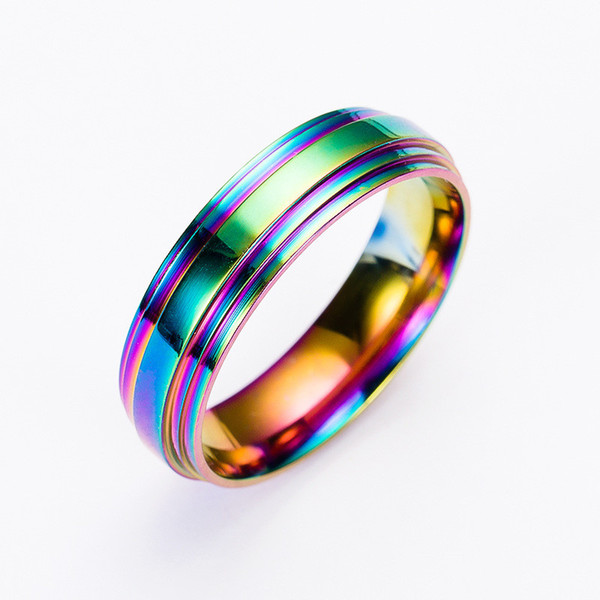 Rainbow stainless steel rings designer jewelry women rings designer ring Women men rings wedding ring designer jewelry fashion 080266
