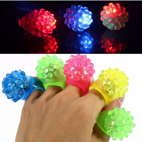 New Arrival LED Ring Light Ring Flash Light LED Mitts Cool Led Light Up Flashing Bubble Ring Blinking Finger Lights For Party Disco