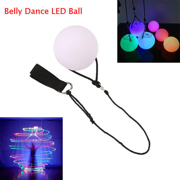 LED POI Thrown Balls Belly Dance LED Ball Multicolor Ball Light for Professional Belly Dance Level Hand Props Luminous Ball Shine Night