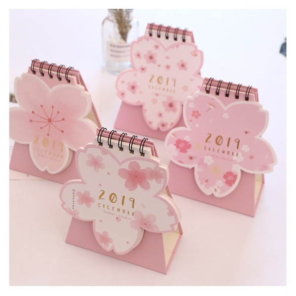 nice cherry blossom pink calendar DIY table calendar daily schedule planner