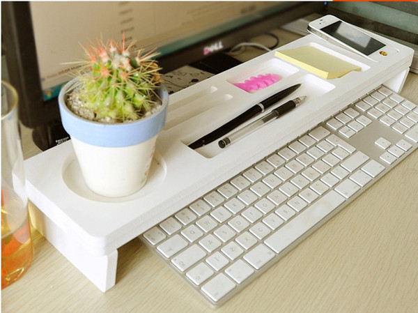 Desk Storage Shelf Office Desktop Organizer Phone Keyboard Storage Pen Shelf Deskstop Organizer a shelves
