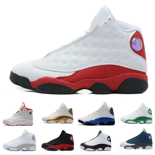 2018 Mens casual Shoes 13 Bred Black True Red History Of Flight DMP Discount Sports Shoe Women Sneakers 13s Black Cat