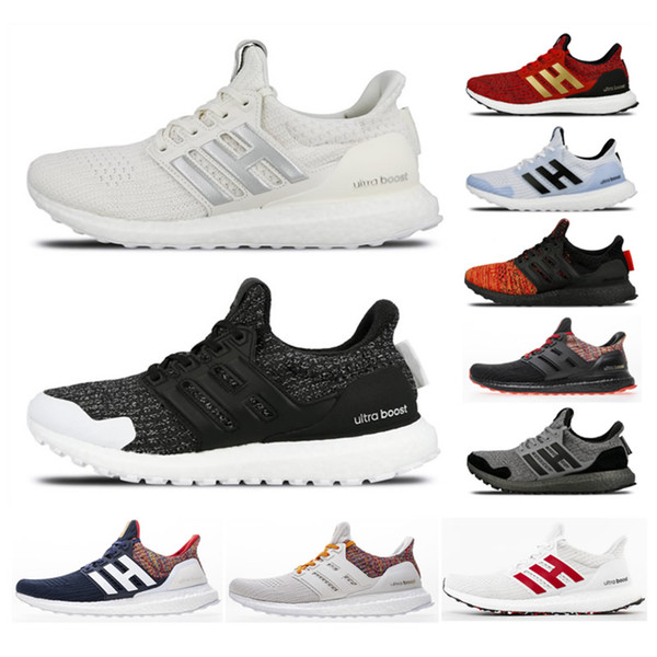 New Arrival 2019 Ultra Boost 4.0 Game of Thrones Shoes Men Women High Quality UltraBoost UB 4.0 Triple All White Red Primeknit Casual Shoes