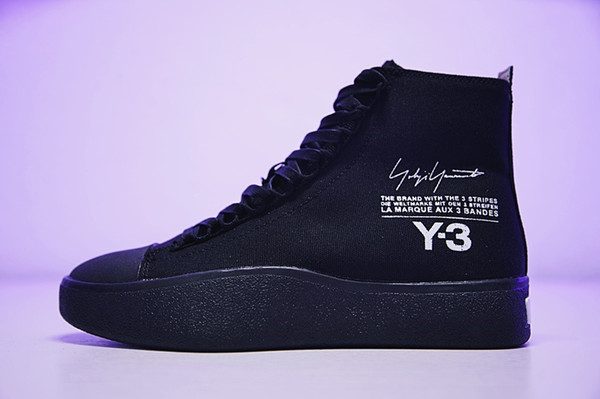 Free Shipping With Original Box 2018 Y-3 Bashyo Trainer Boots Y3 Men Women Running Shoes Fashion Canvas Sneakers