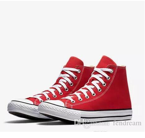 Drop Shipping Brand New 15 Colors All Size 35-46 High Top sports stars Low Top Classic Canvas Shoe Sneakers Men's Women's Casual Shoes