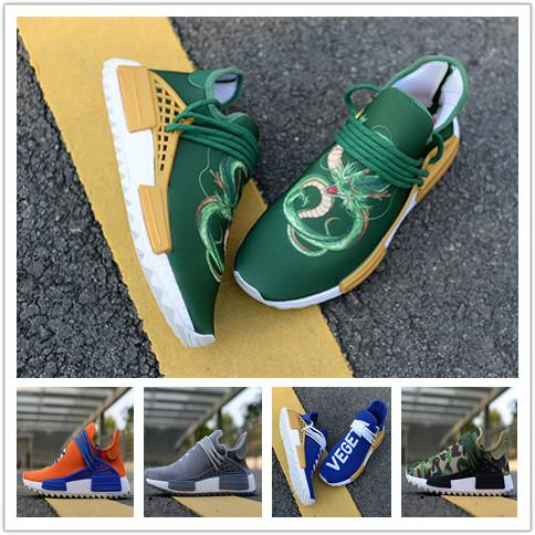 Wholesale High Quality 2018 NMD Human RACE Pharrell Williams Hu trail NERD Men Womens RunnING ShOes NMD XR1 Sports ShOes Size 36-46
