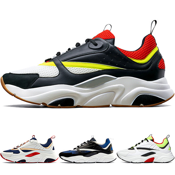 2018-2019 New D Men's Canvas And Calfskin Trainers Fashion New Sneakers B22 Trainer Technical Knit Shoes
