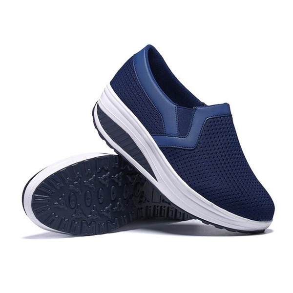 Special Purpose Fitness Shoes Women Sport For Women Swing Wedges Platform Mujer Mesh Trainers Tenis Feminino Toning Shoes