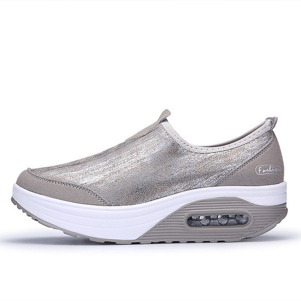 Fitness Toning Shoes Woman Swing Feminino Slip on Weige Women Shoes Jumping Black White Slimming Platform Shoes Size