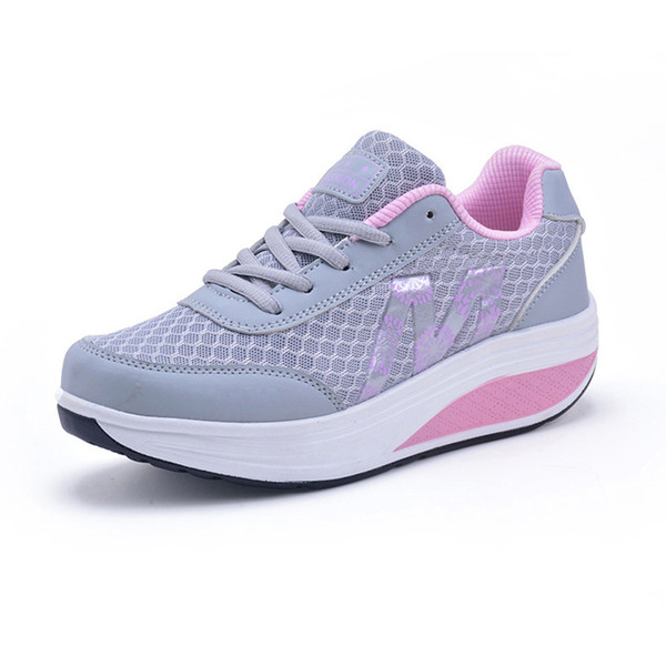 Fitness Shoes Women's Sport for Women Swing Wedges platform mujer canvas trainers tenis feminino Toning Shoes