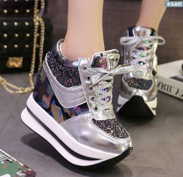 Shoes Women Summer Breathable Mesh Sports Shoes Female Fitness Swing Platform Wedge Shoes Lady Lose Weight Sneakers