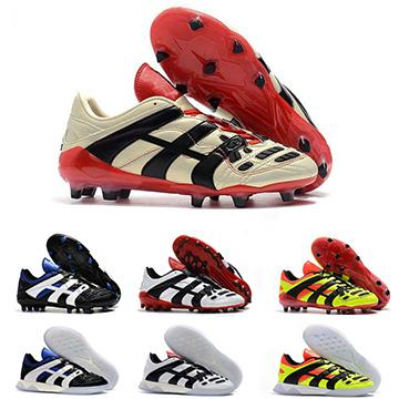 Predator Football Boots Mens Dream Back 98 Predator Accelerator Champagne FG/IC Soccer Shoes Men Trainers Cleats Sneakers