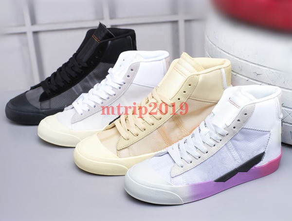 New Designer Mens White Mid Sneakers 2.0 Spooky Grim Reepers All Hallows Eve Running Shoes Women Casual Off Trainer Skateboard Shoe