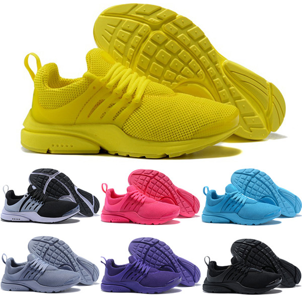 2018 TOP PRESTO 5 BR QS Breathe Black White Yellow Red Mens Shoes Sneakers Women Running Shoes Hot Men Sports Shoe Walking designer shoes