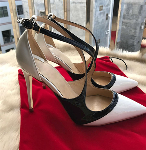 2018 New Luxury Designer New Red bottom Patent leather Sexy Fashion 8cm/10cm/12cm High Heels Ladies Footwear Womens pumps Shoes
