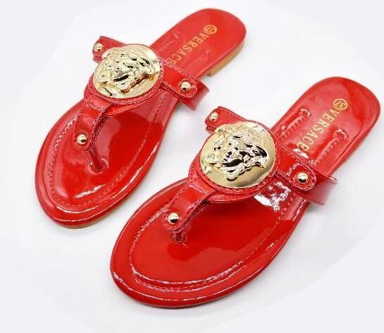 red Sandals voBrand Slippers women Flip Flops sandals big size Fashion Designer shoes Sneakers for Wearing by Shoe..