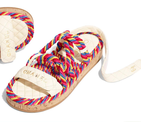 Summer Branded Women Lettering Colorful Straw Sandal Elegant Girl Hook Loop Strap Rubber Sole Casual Flat Sandals