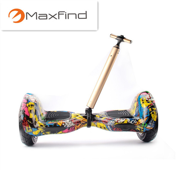 Smart Outdoor Sports Hoverboard Skateboard Scooter Extensible Portable Pull Rod Trolley 2Wheel Self Balancing Scooter Tie Rod