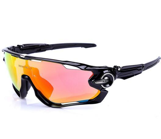 Hot 2019 men women Motion polarized windproof riding glasses night vision 4 lenses,sport windproof Cycling Protective Gear Eyewear glasses