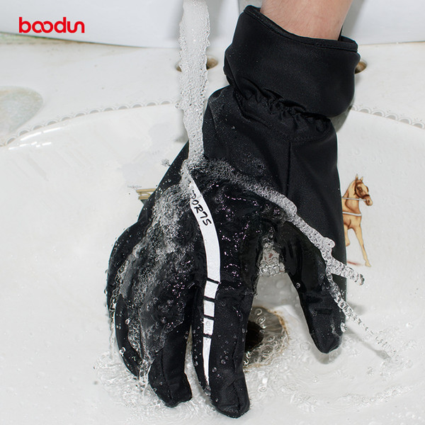 Brand Men's Designer Skiing Gloves Winter Thermal Fleece Waterproof Snowboard Gloves Cycling Motorcycle Keep Warm Gloves