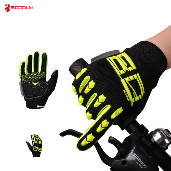 Boodun Winter Cycling Gloves Touch Screen GEL Bike Gloves Sport Shockproof MTB Road Full Finger Bicycle Glove For Men Women