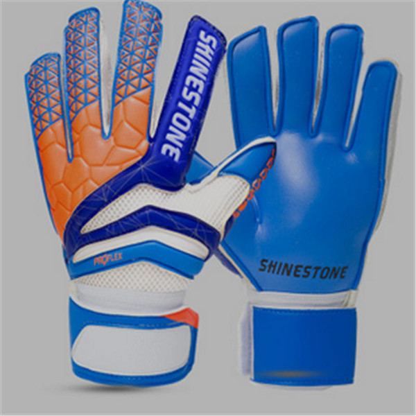 Men Sports Outdoor Goalie Gloves & Finger Protection Thickened Latex Goalkeeper Gloves Soccer Football Goal Keeper Gloves