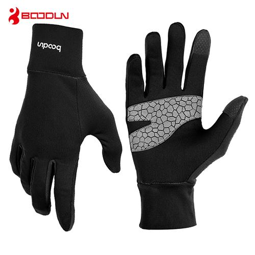 BOODUN Driving Gloves Touch Screen Cycling Outdoor Full Finger Windproof Road Mountain Bicycle Gloves Mobile Phone Gloves Guantes de portero