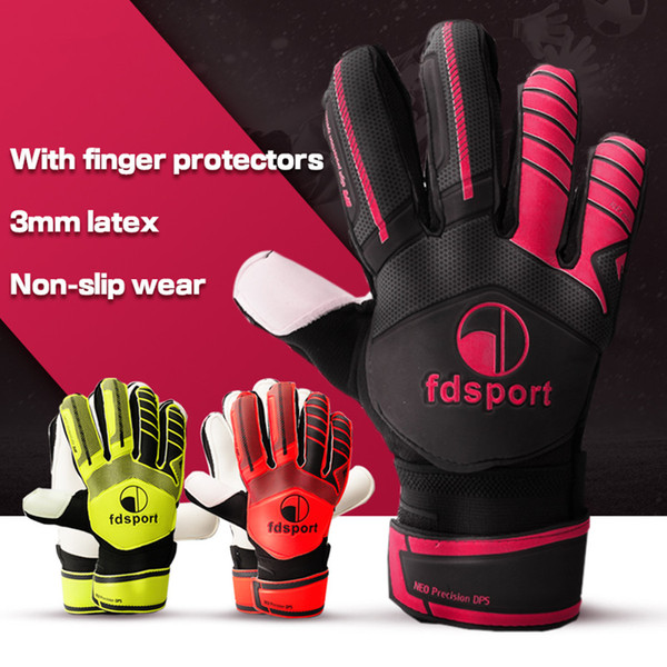 Brand Professional Goalkeeper Gloves Sports Glove Men Kids Finger Protection Thickened Latex Soccer Football Goalie Goal keeper Gloves