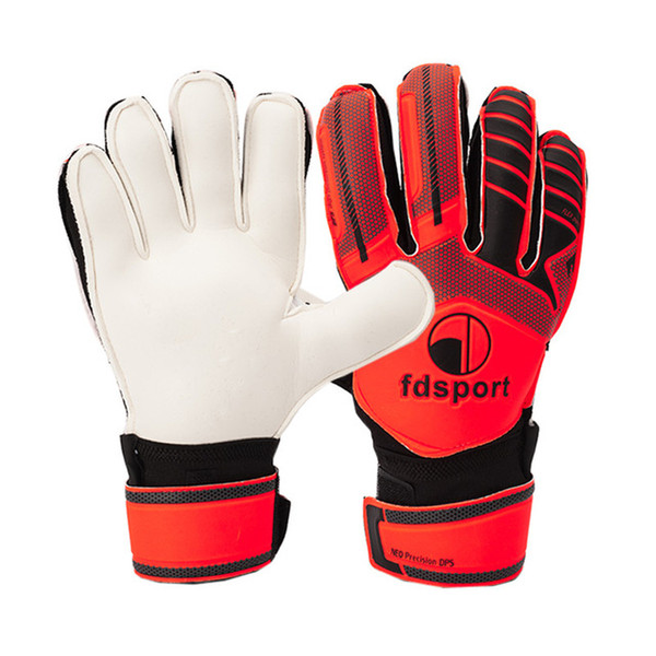 Men Kids Professional Soccer Goalkeeper Gloves 5 Finger Save Protection Thicken 3mm Latex Sports Football Goalie Gloves Non-slip