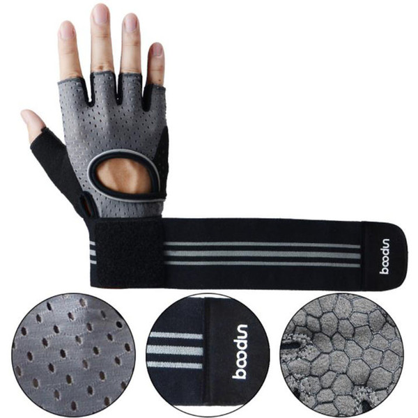 Boodun new men and women half finger fitness gloves non-slip wear dumbbell equipment wrist sports fitness gloves