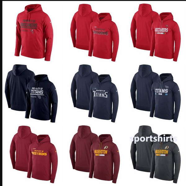 2018 Men Women Kid SanTampa Bay Buccaneers Hoodies Washington Redskins Titans Circuit Property Of Performance Pullover Hoodies