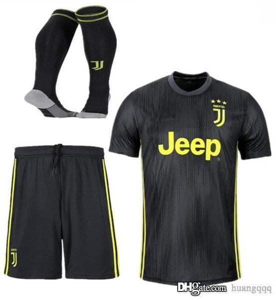 Juventus second road jersey for the 2018-19 season JUV CR7 CHIELLINI PJANIC BENATIA CUADRADO MARCHISIO DYBALA BARZAGLI RUGANI Soccer suit