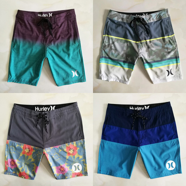 Men Swimwear 8 Colors Casual Beach Waterproof Quick Drying Loose Shorts Elastic Straight Tube Surfing Swimming Trunks Summer