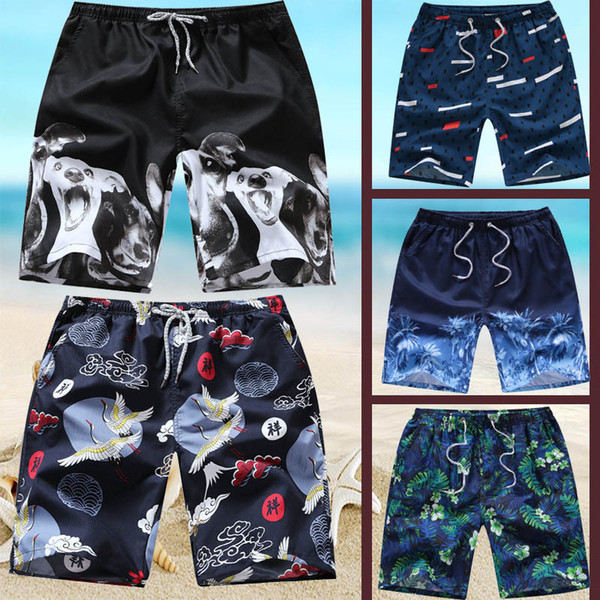 2019 Men Beach Swimwear 20 Colors Casual Elastic Printed Plaid Straight Tube Lovers Shorts Surfing Swimming Trunks Summer Quick Drying