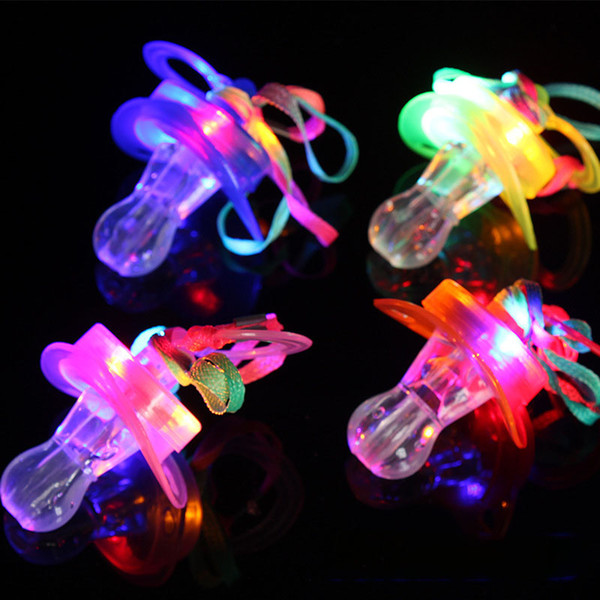 Light Pacifier shape LED Whistle toy Rave Party Glowing Flashing Lanyard nipples toys kids led toy Party gift pub props C5643