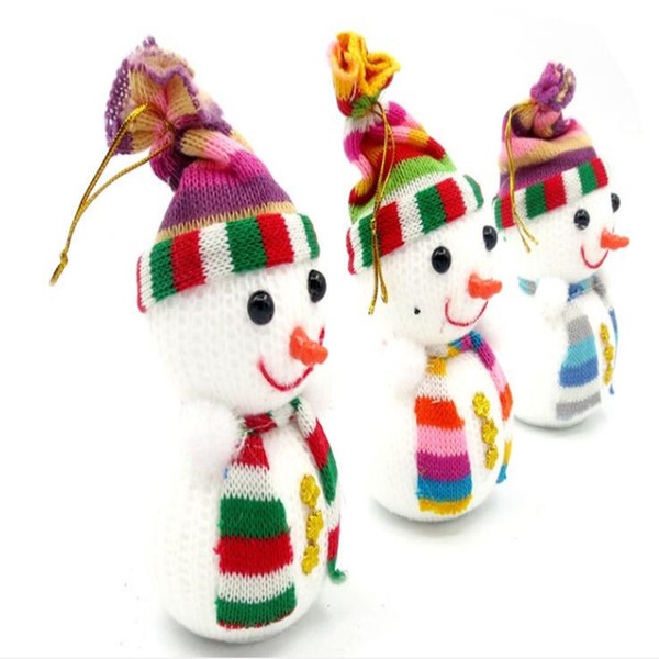 2018 Christmas Snowman Novelty Toys Entertainment Lovely Dolls Christmas Tree Hanging Decorative Gift Doll Medium Size