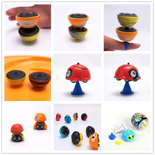 NEW Children's Multi-Function Competitive Cartoon Gyro Toy kids Inertia Insect Car Baby Racing Collision Spinning Top Early Education