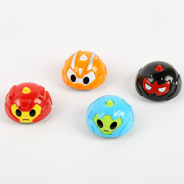 Children's Multi-Function Competitive Cartoon Gyro Toy kids Inertia Insect Car Baby Racing Collision Spinning Top Early Education 4pcs